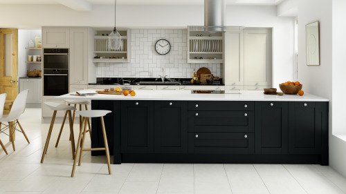 Limestone Anthracite Painted Wood Shaker
