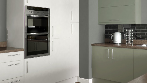 Opaco Painted White And Sage Grey
