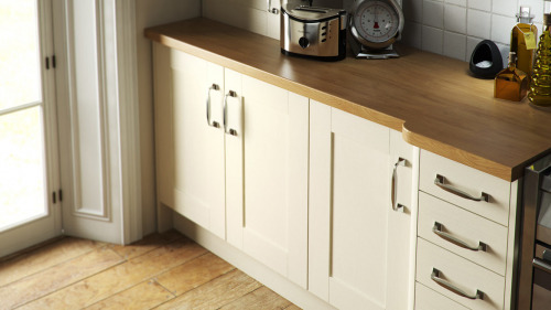 Shaker Wood Painted Ivory