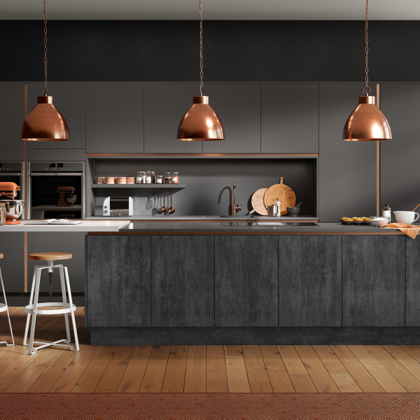Inset Linear Lustre Metallic Chic Dusk Grey And Chic Graphite