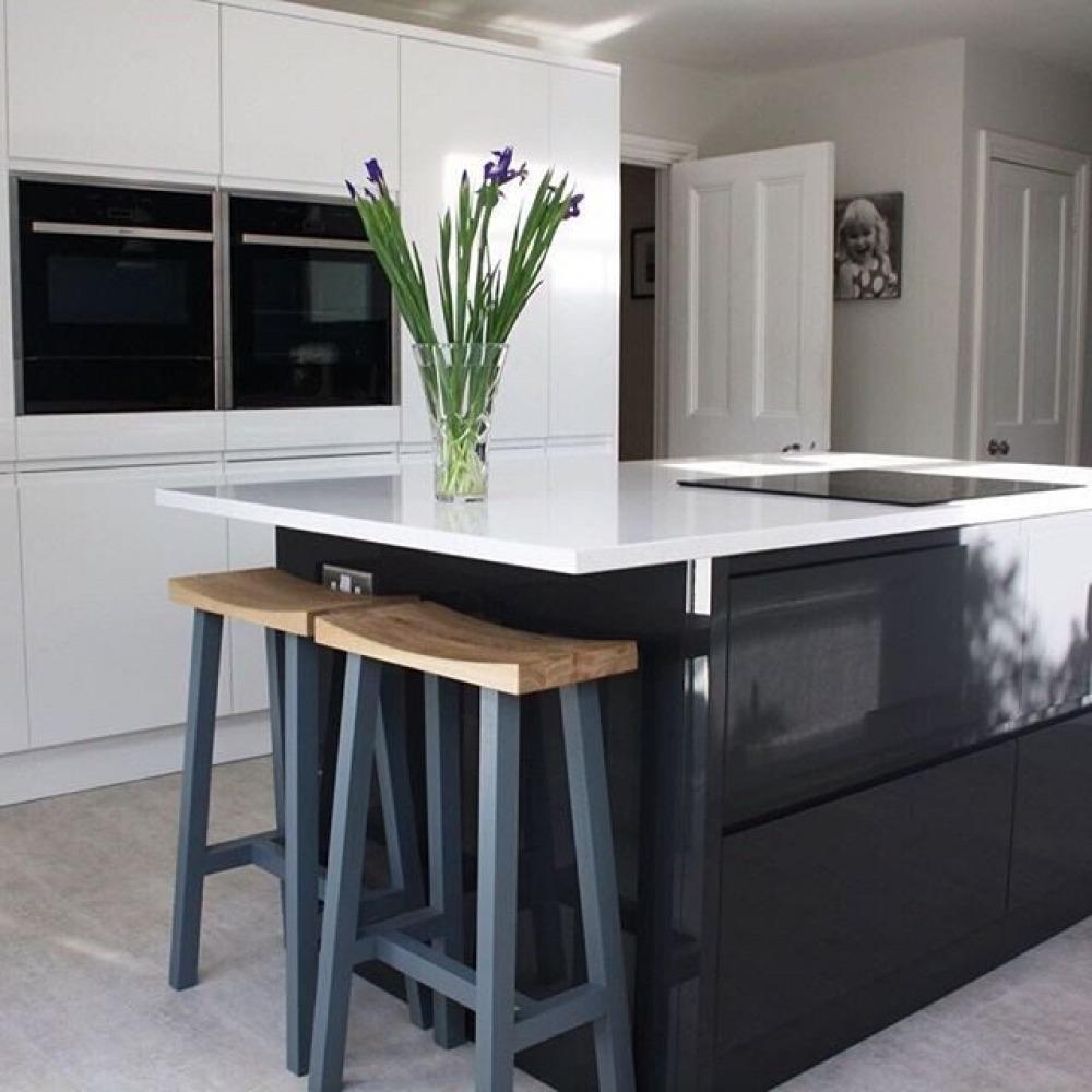 Black Gloss Kitchen Ideas Black And White Kitchen