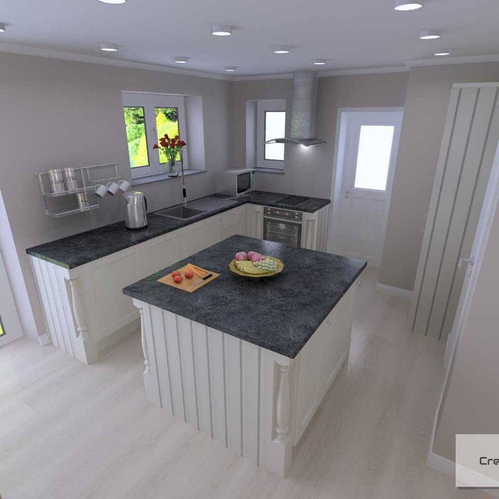 L Shaped Kitchens Island