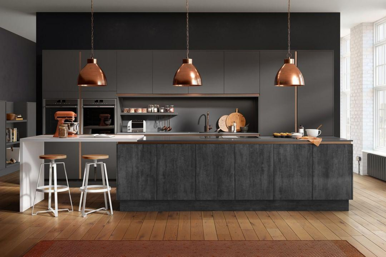 Black And Copper Kitchen Ideas Copper Pendant Lights