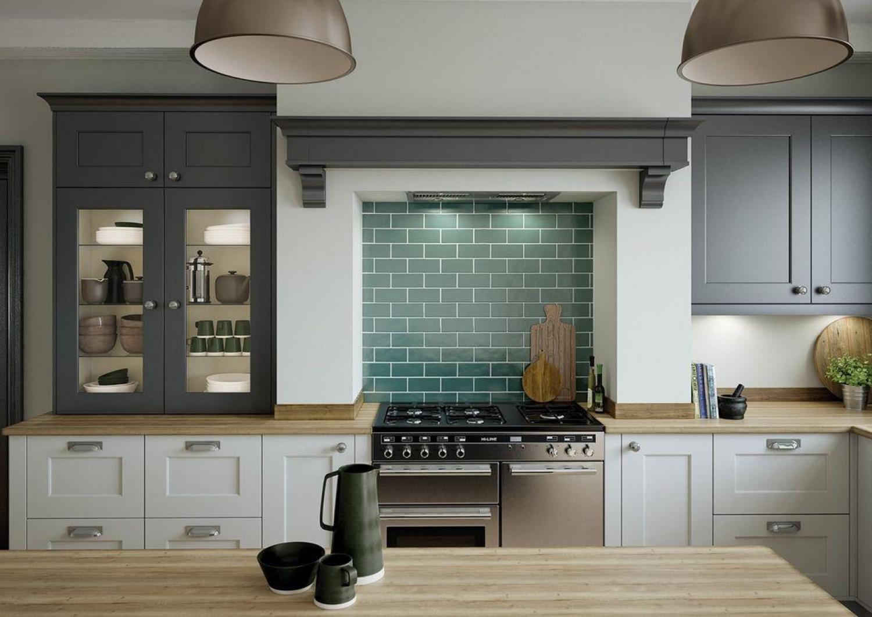 Grey Kitchen Ideas Colourful Backsplash