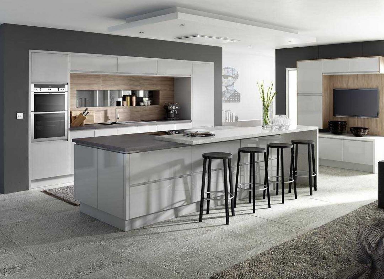 Grey Kitchen Ideas Mix Shades