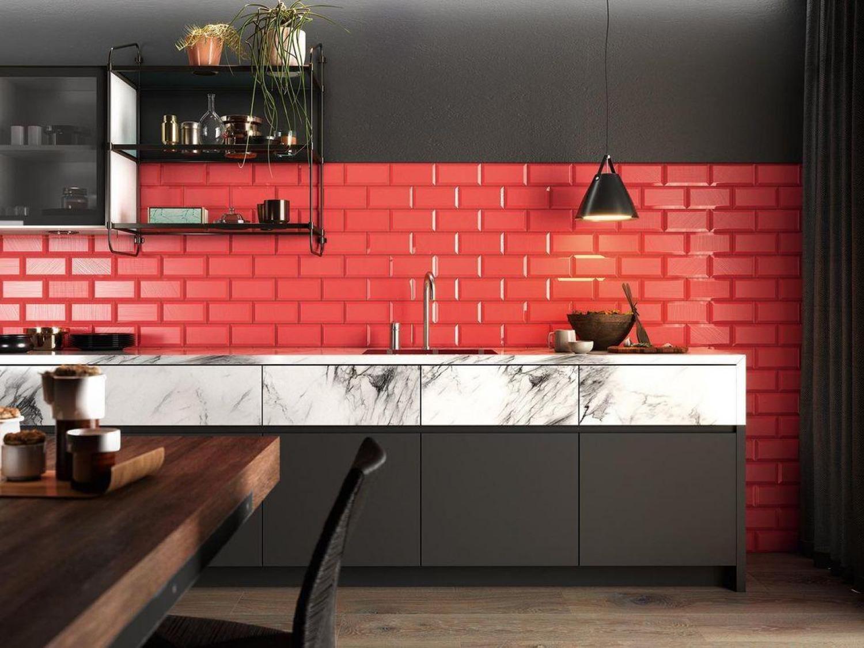 Black And Red Kitchen Ideas Red Backsplash