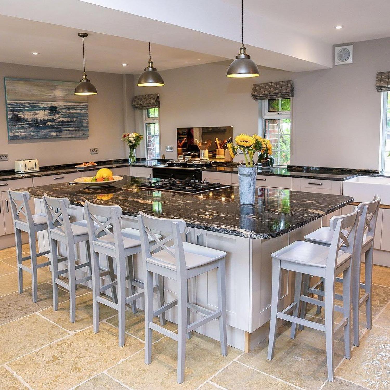 Granite Worktops Grey Kitchen Island