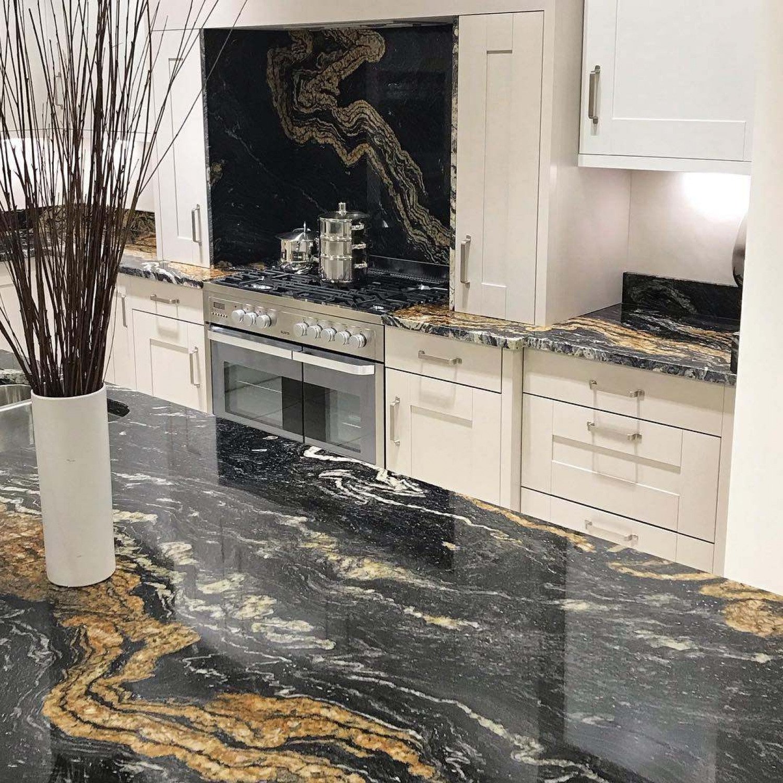 Black And Copper Kitchen Ideas Copper Marble Backsplash