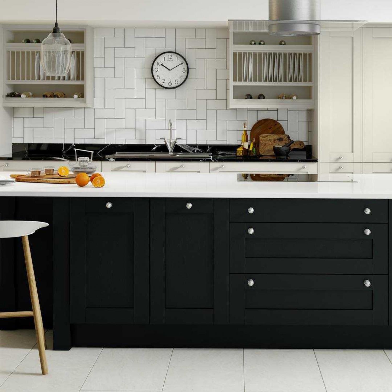 Black And Cream Kitchen Ideas Kitchen Island