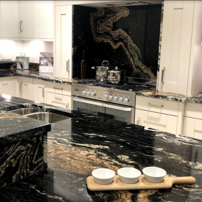 Black Gloss Kitchen Ideas Blak Tiles