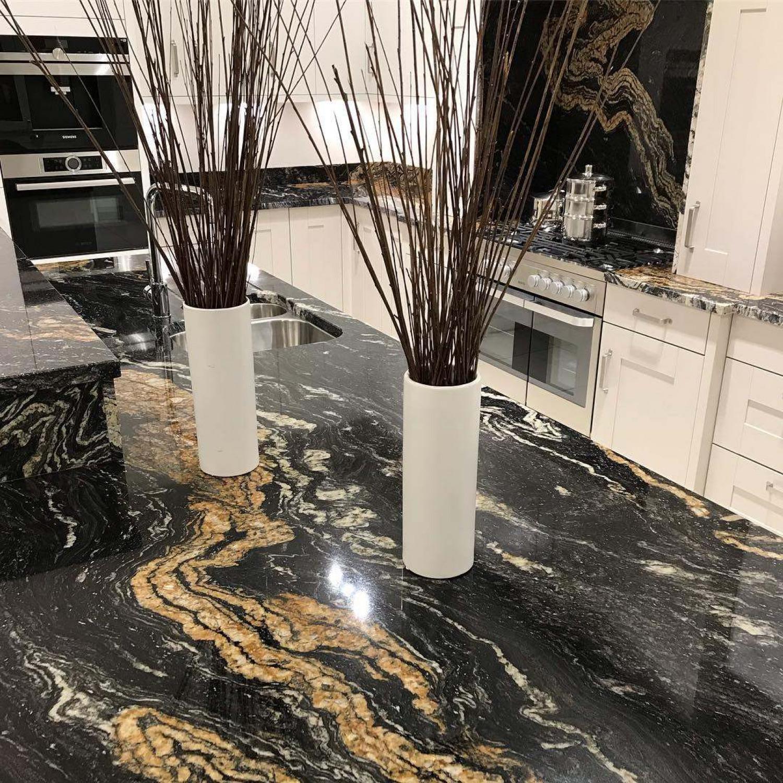 Black Kitchen Worktop Ideas High Gloss Countertop