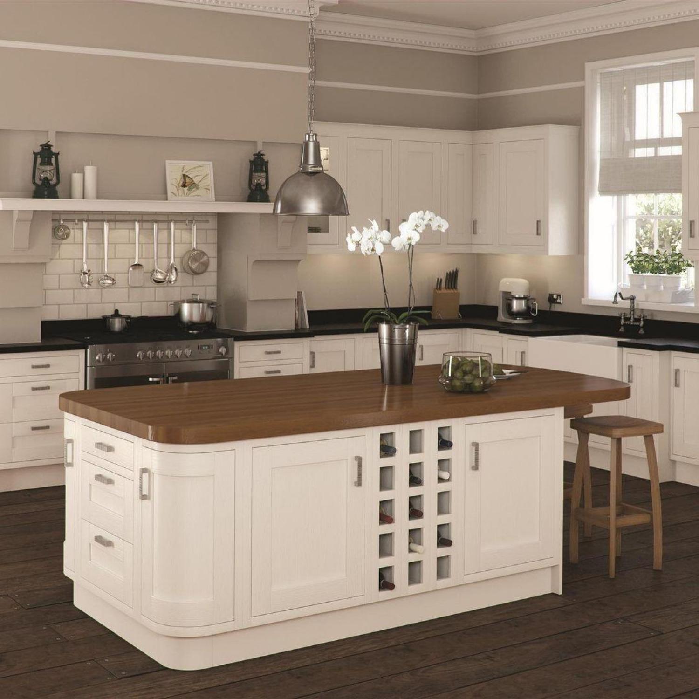 Cream Kitchen Ideas Traditional Dark Floors