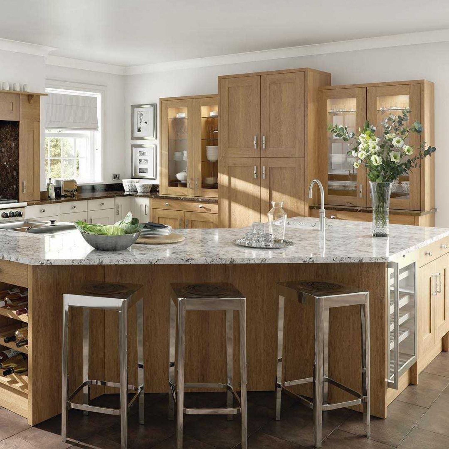 G Shaped Kitchen Angled Counters