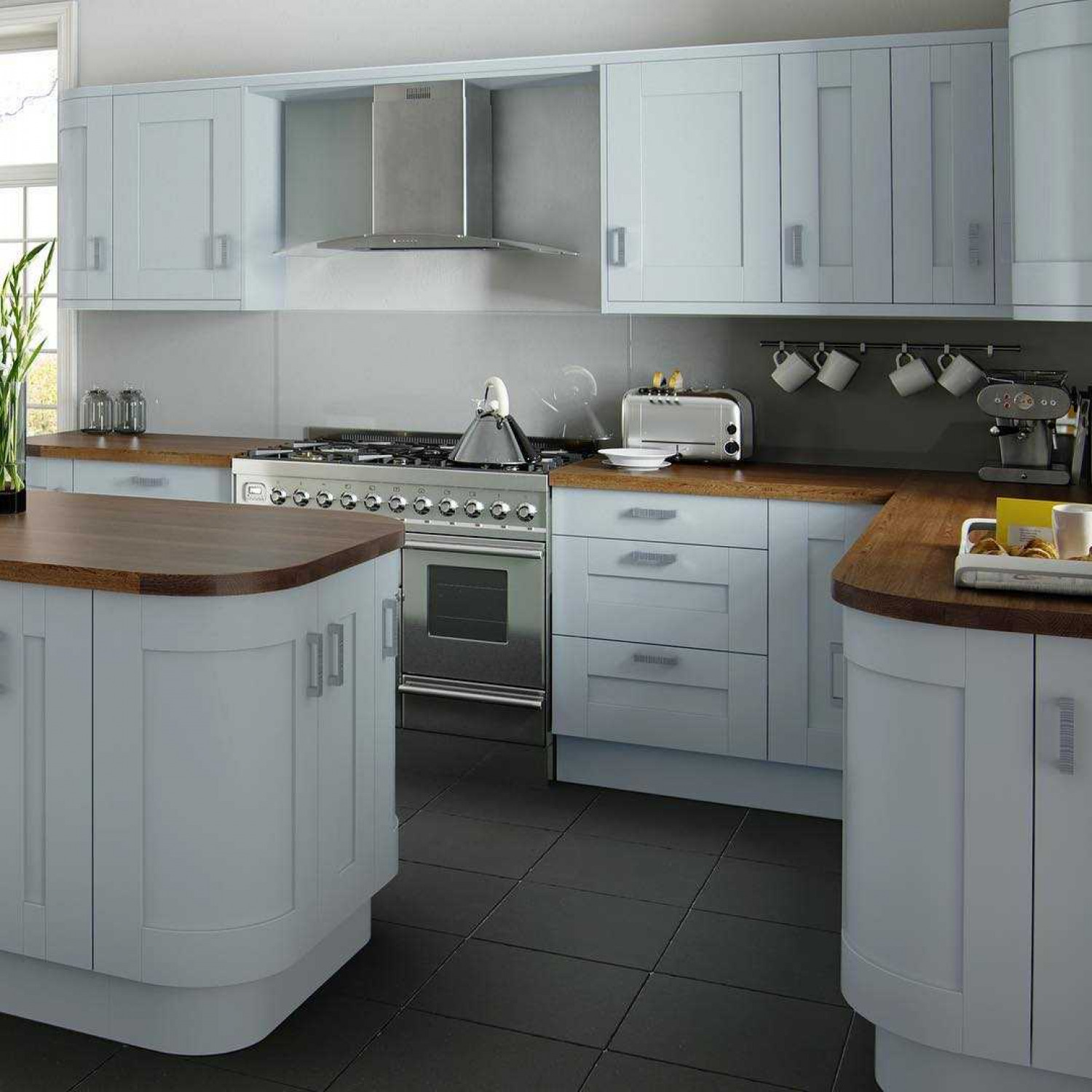 G Shaped Kitchen Wood Worktops
