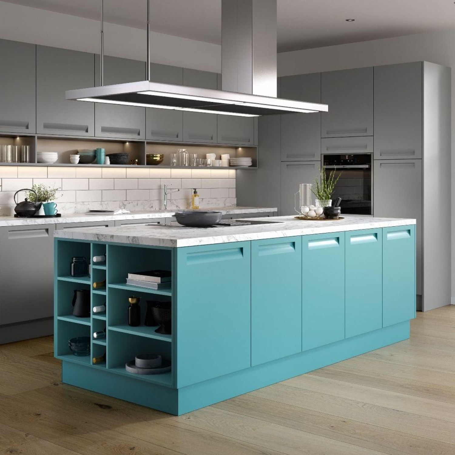 Grey Kitchen Ideas Grey And Blue Cabinets