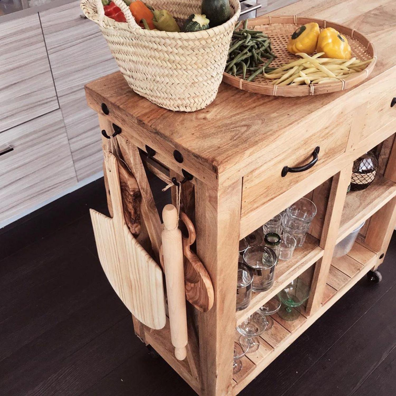 Kitchen Cabinets Wheel Trolley