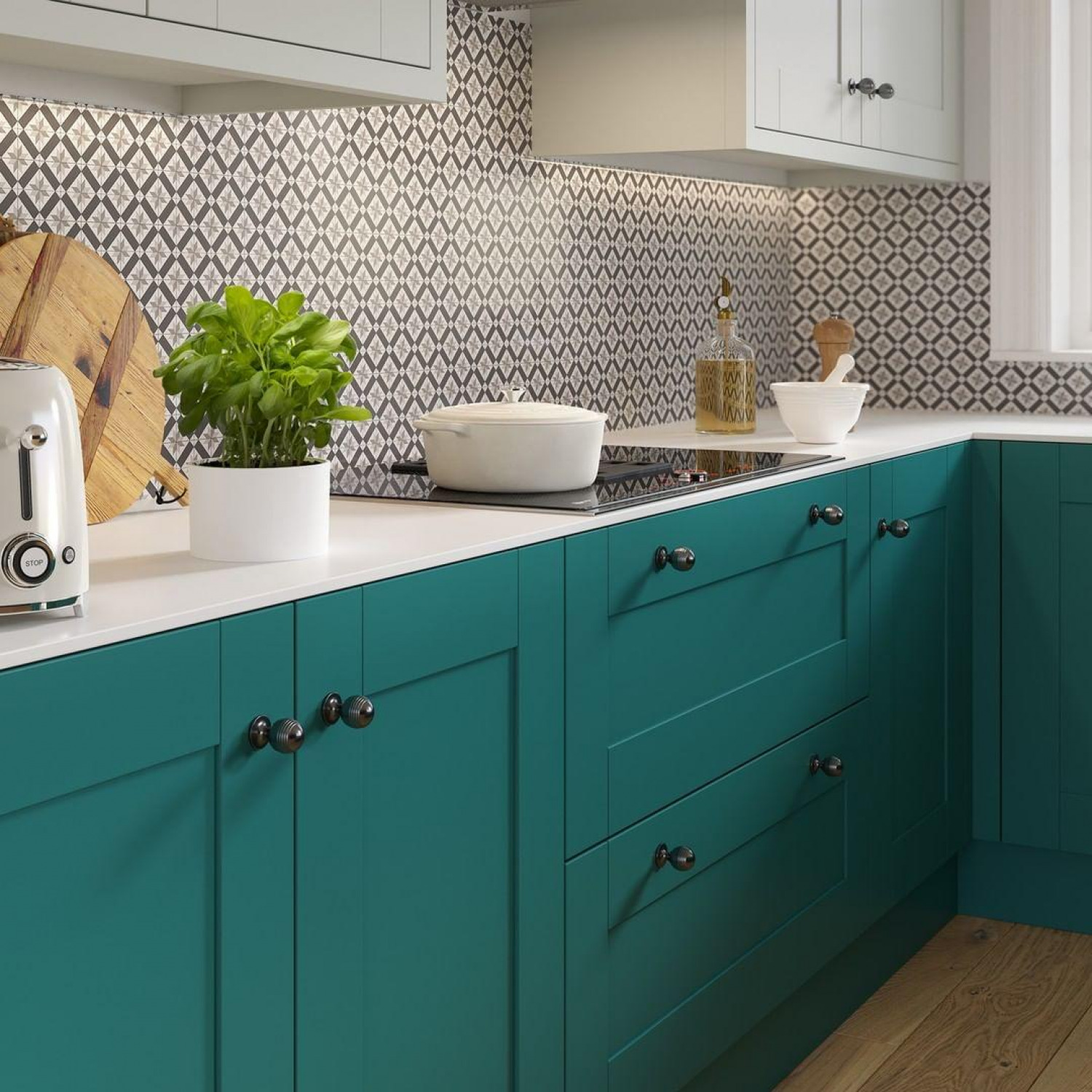 Kitchen Colour Ideas Contrasting