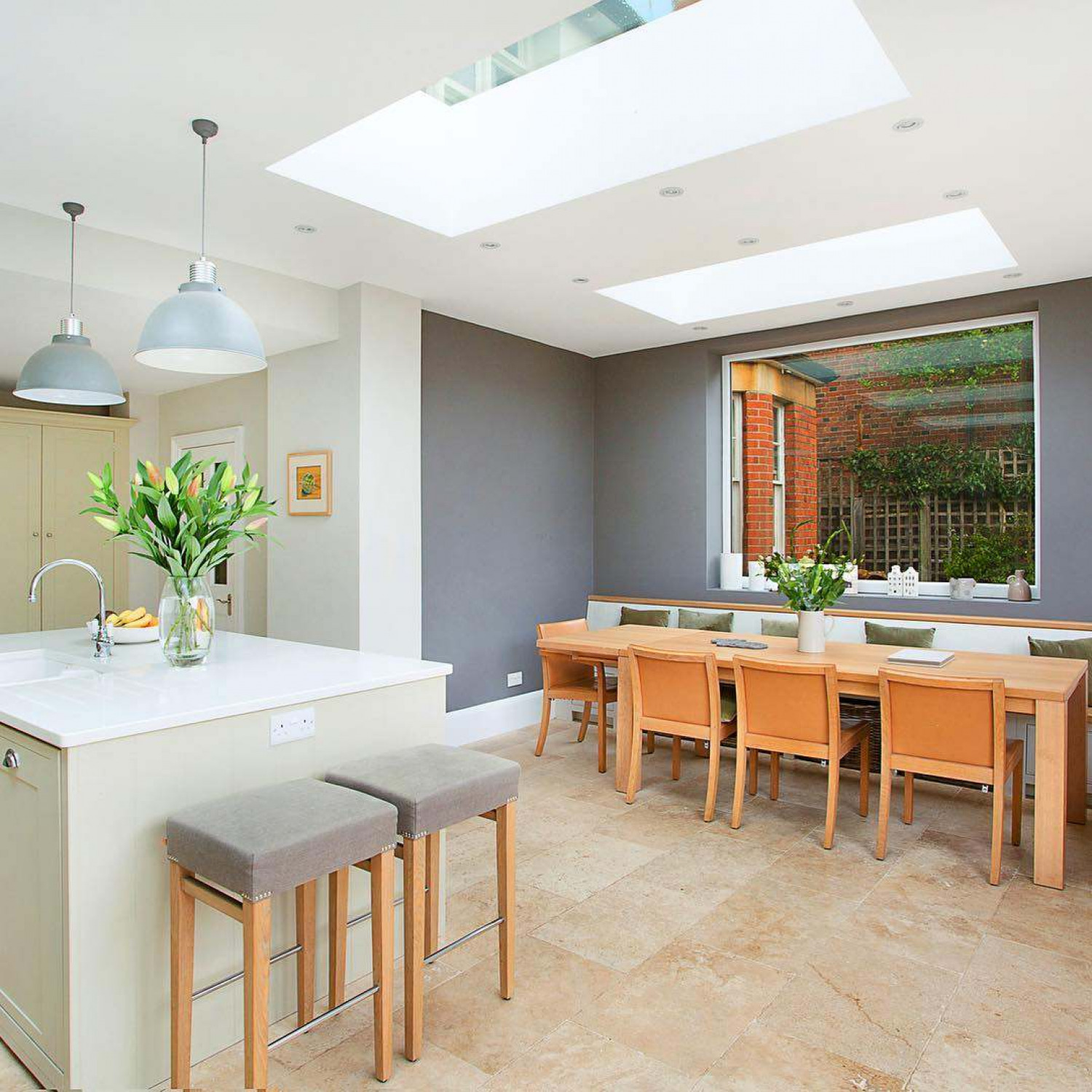 Kitchen Extension Accent Colours