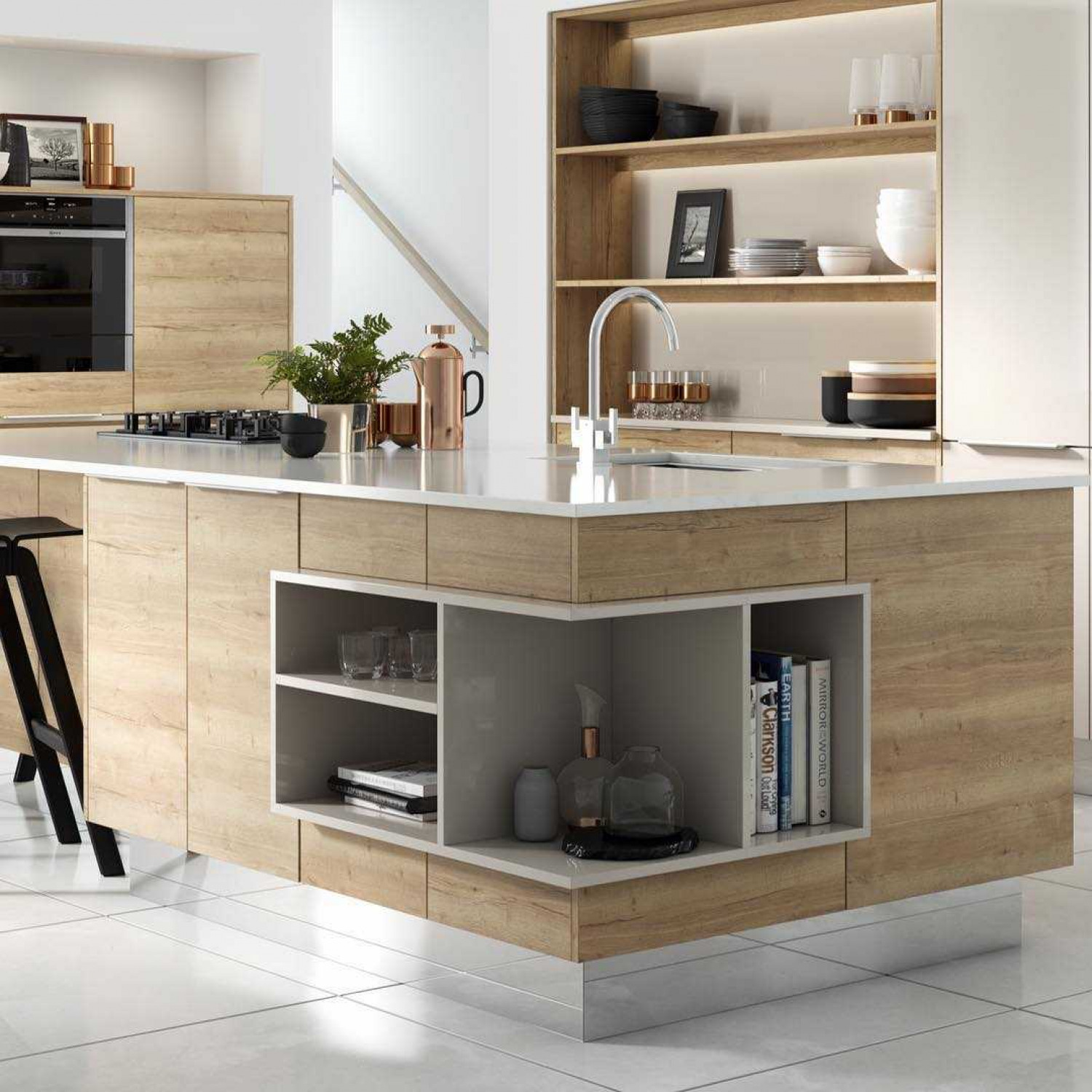 Design Collection Marvellous Kitchen Island Open Shelves 41 New Inspiration