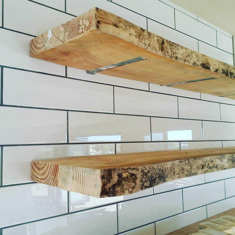 Kitchen Shelving Ideas Live Edge Shelves