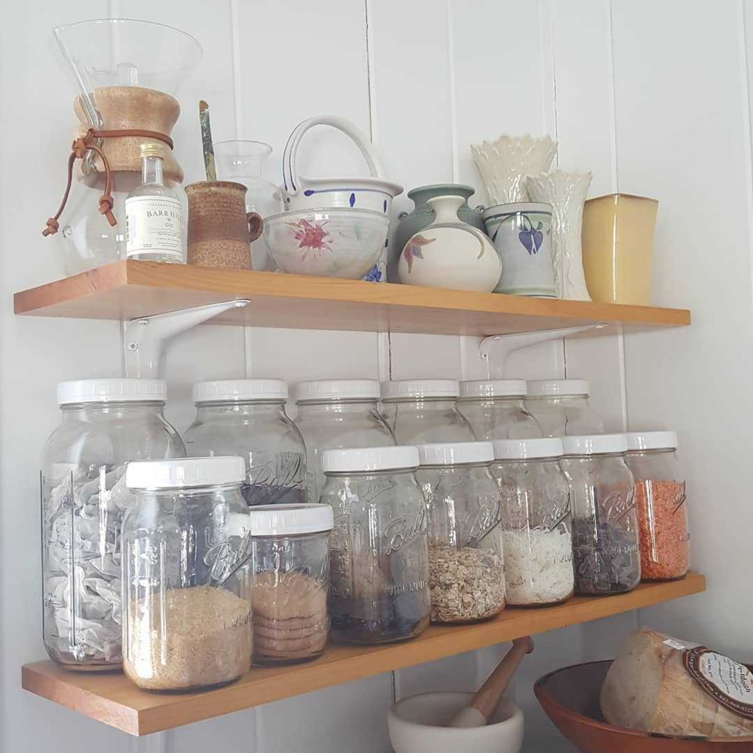 Kitchen Shelving Mason Jars