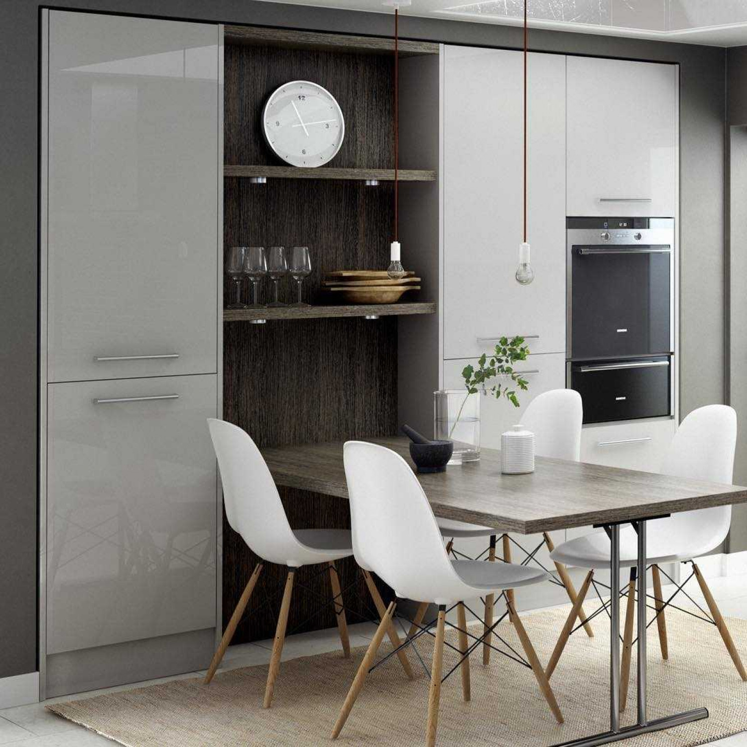 Kitchen Styles Modern Monochrome