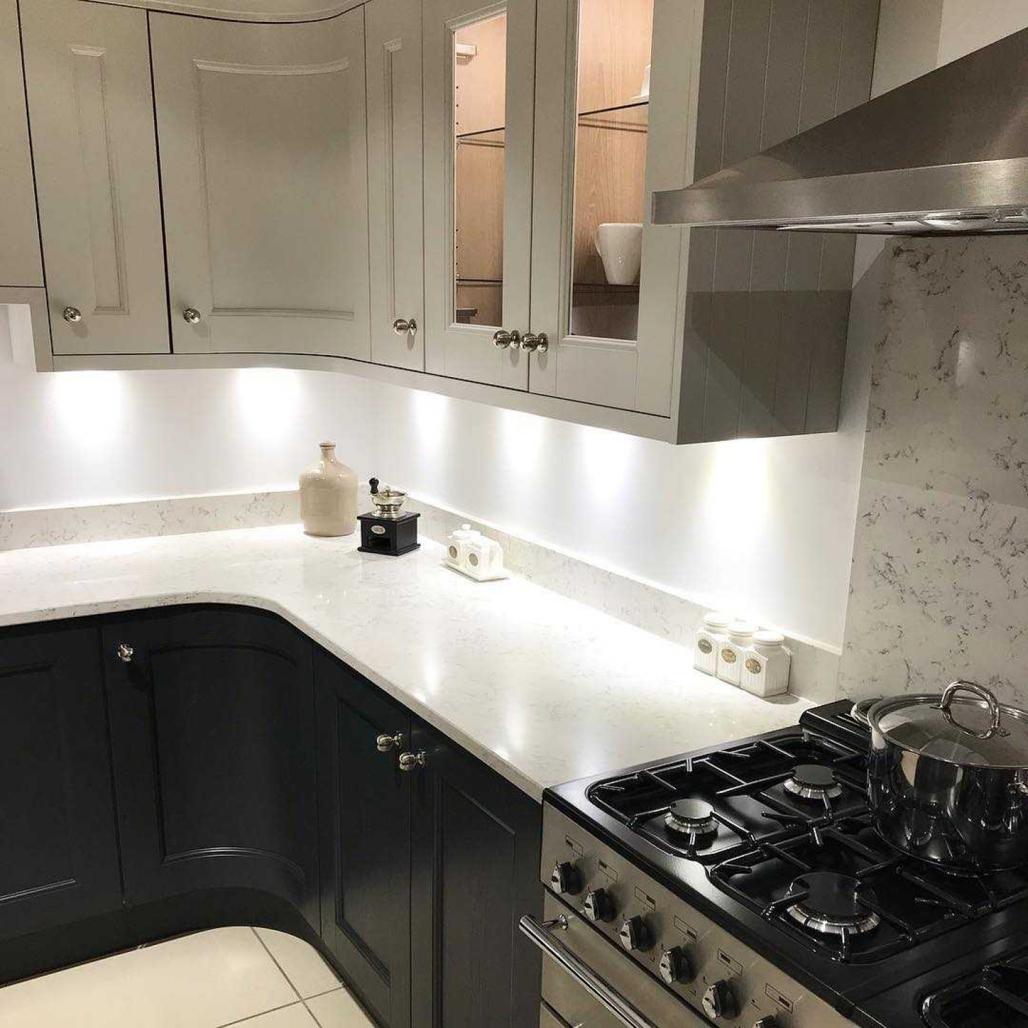 L Shaped Kitchens Lighting