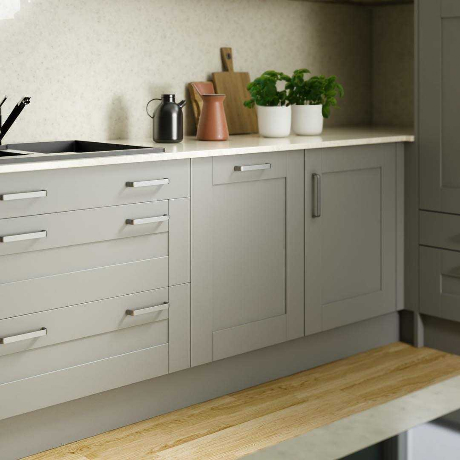 Narrow Kitchens Grey