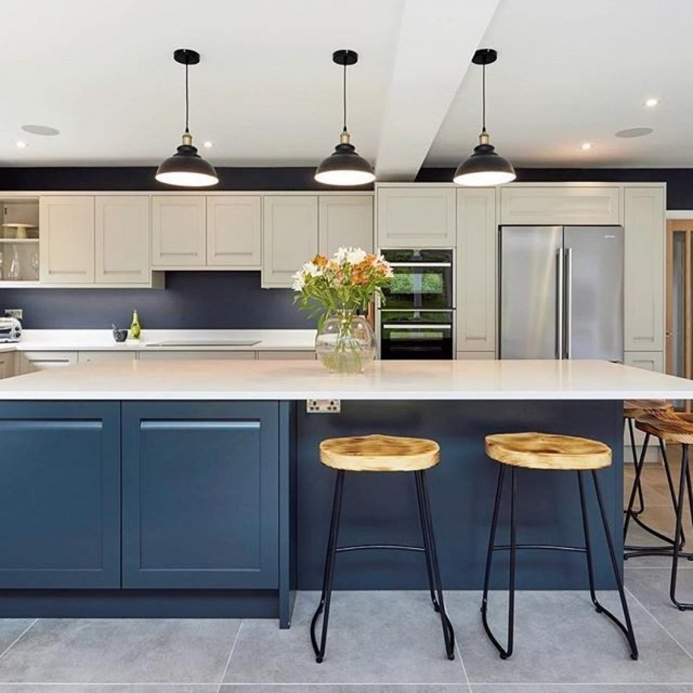 Navy Kitchen Ideas Blue Kitchen Island