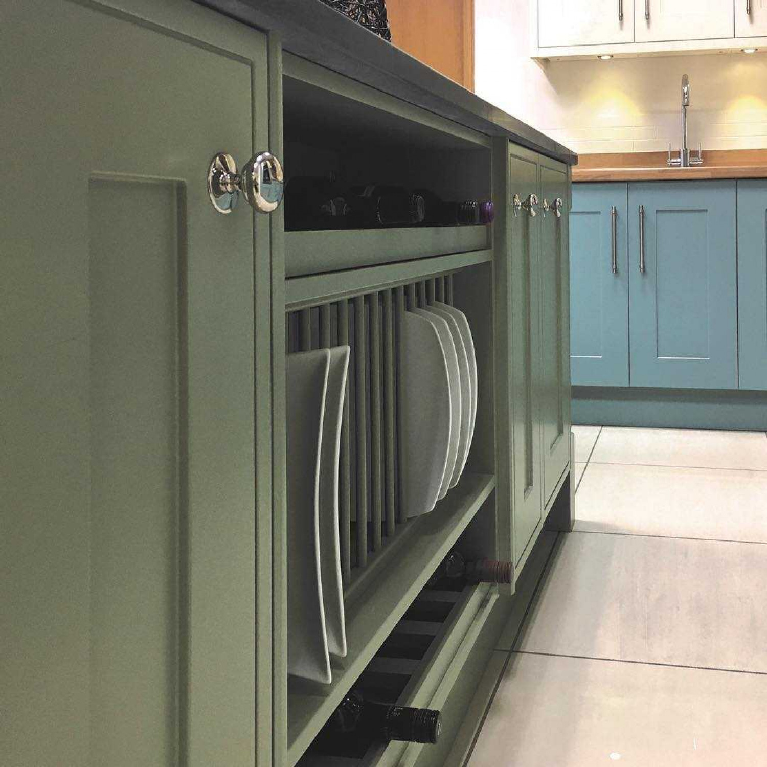 Olive Kitchen Ideas Green And Blue Cabinets
