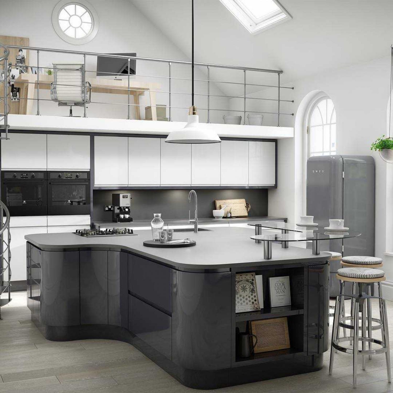 White Kitchen Worktop Ideas Monchrome Kitchen