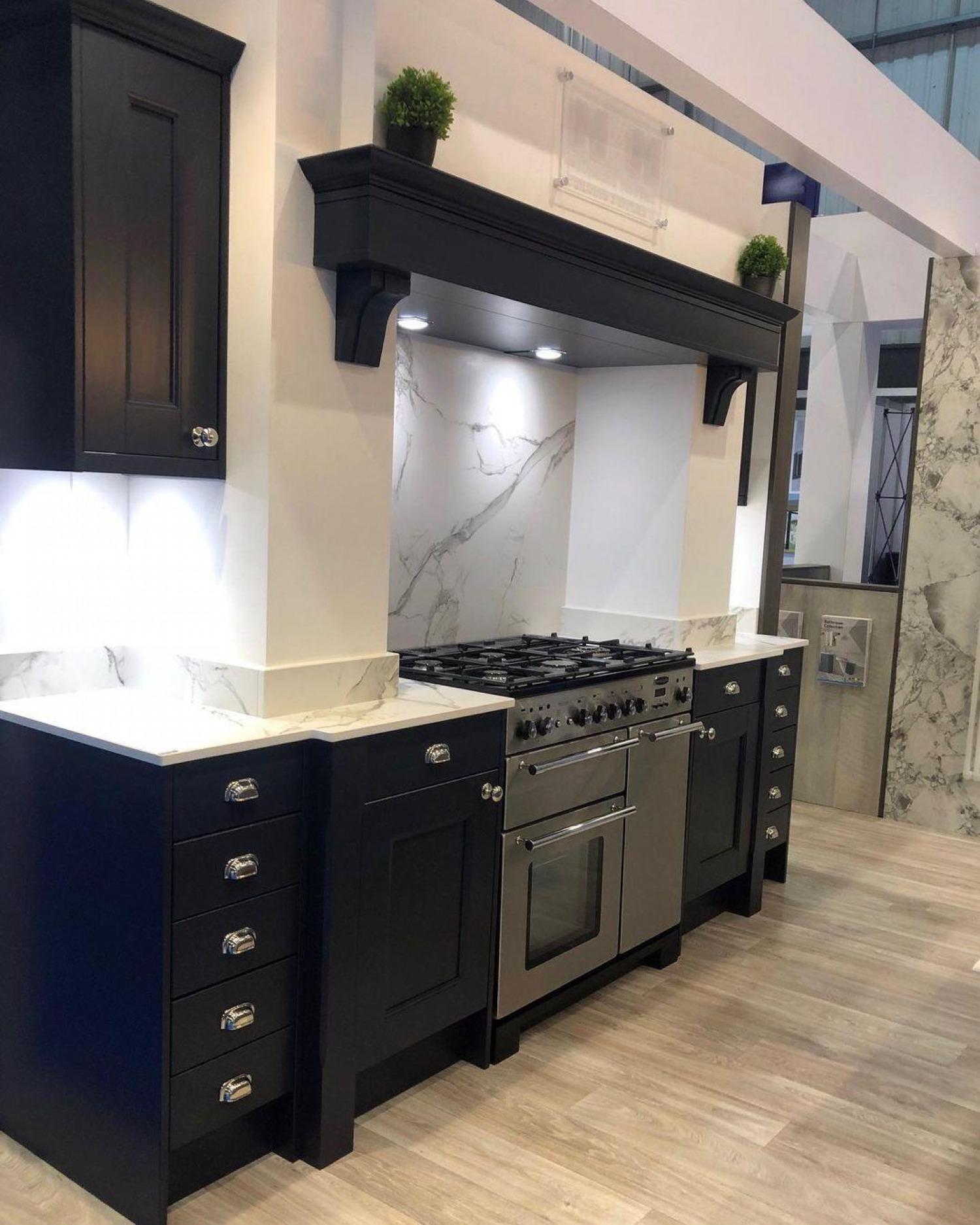 Navy Kitchen Ideas Marble