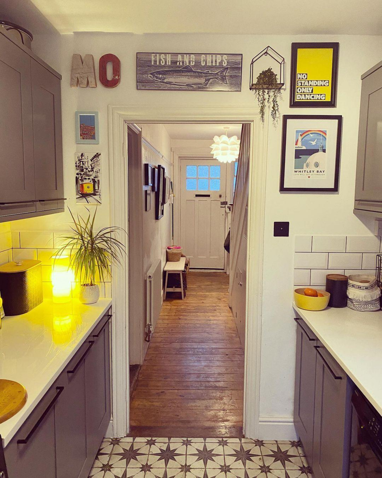 Galley Kitchen Ideas Pops Of Colour