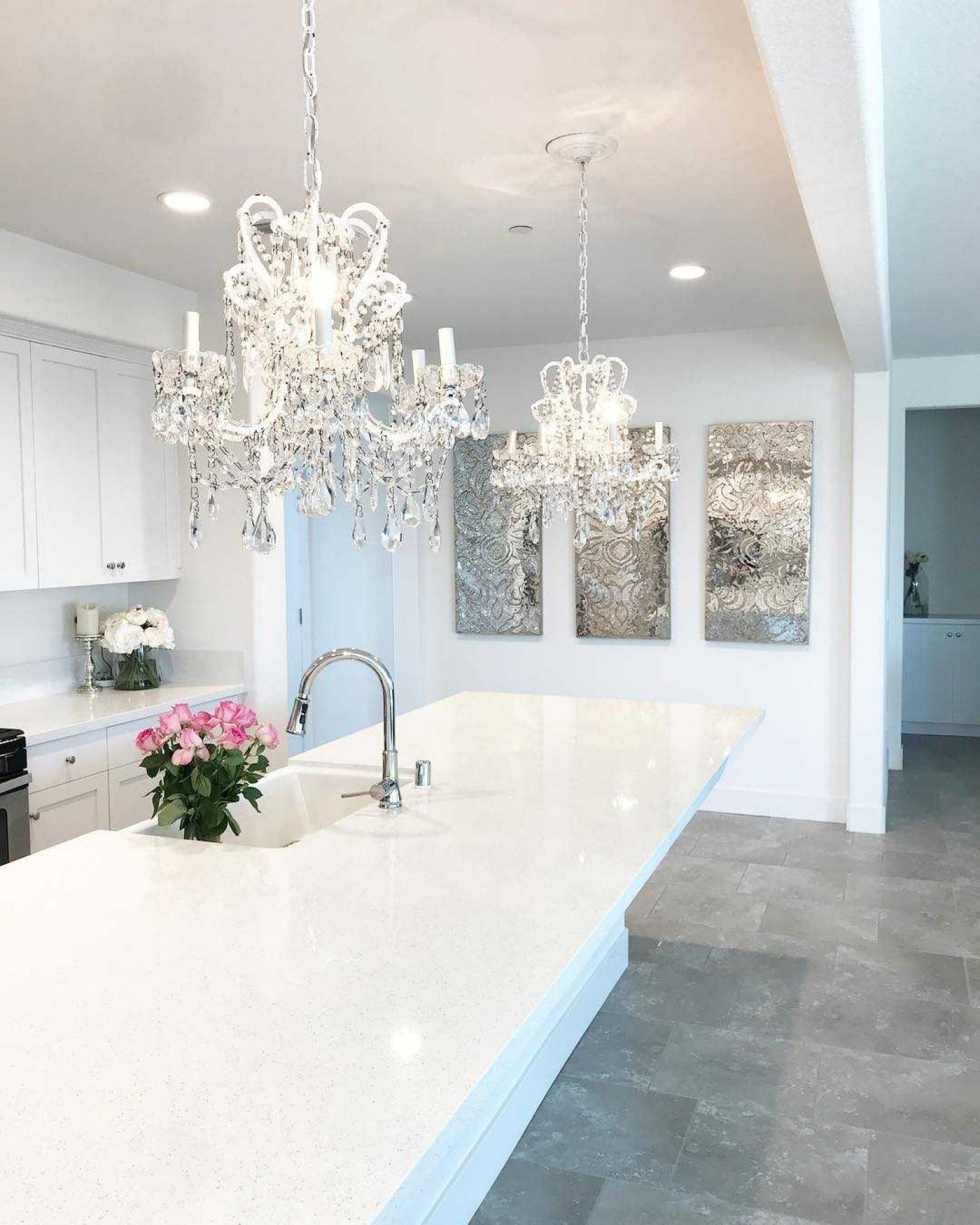 Kitchen Island Ideas Chandelier