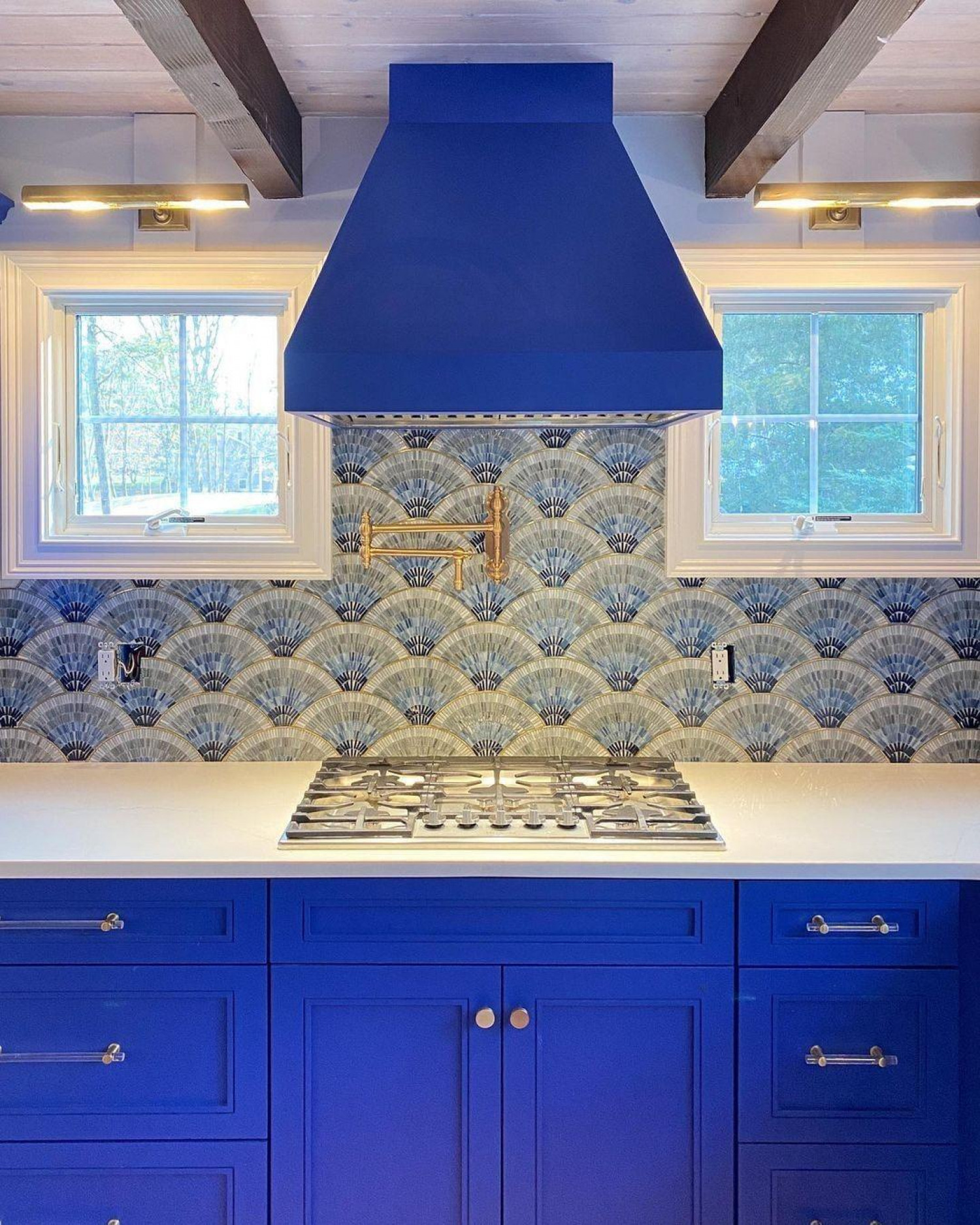 Kitchen Wallpaper Ideas Blue Kitchen Wallpaper