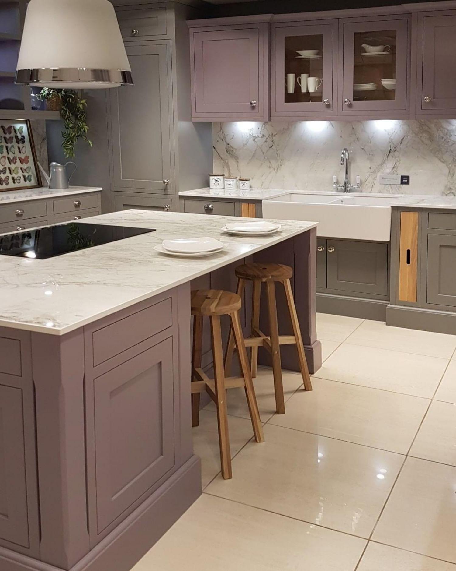 Purple Kitchen Ideas Heather Cabinets