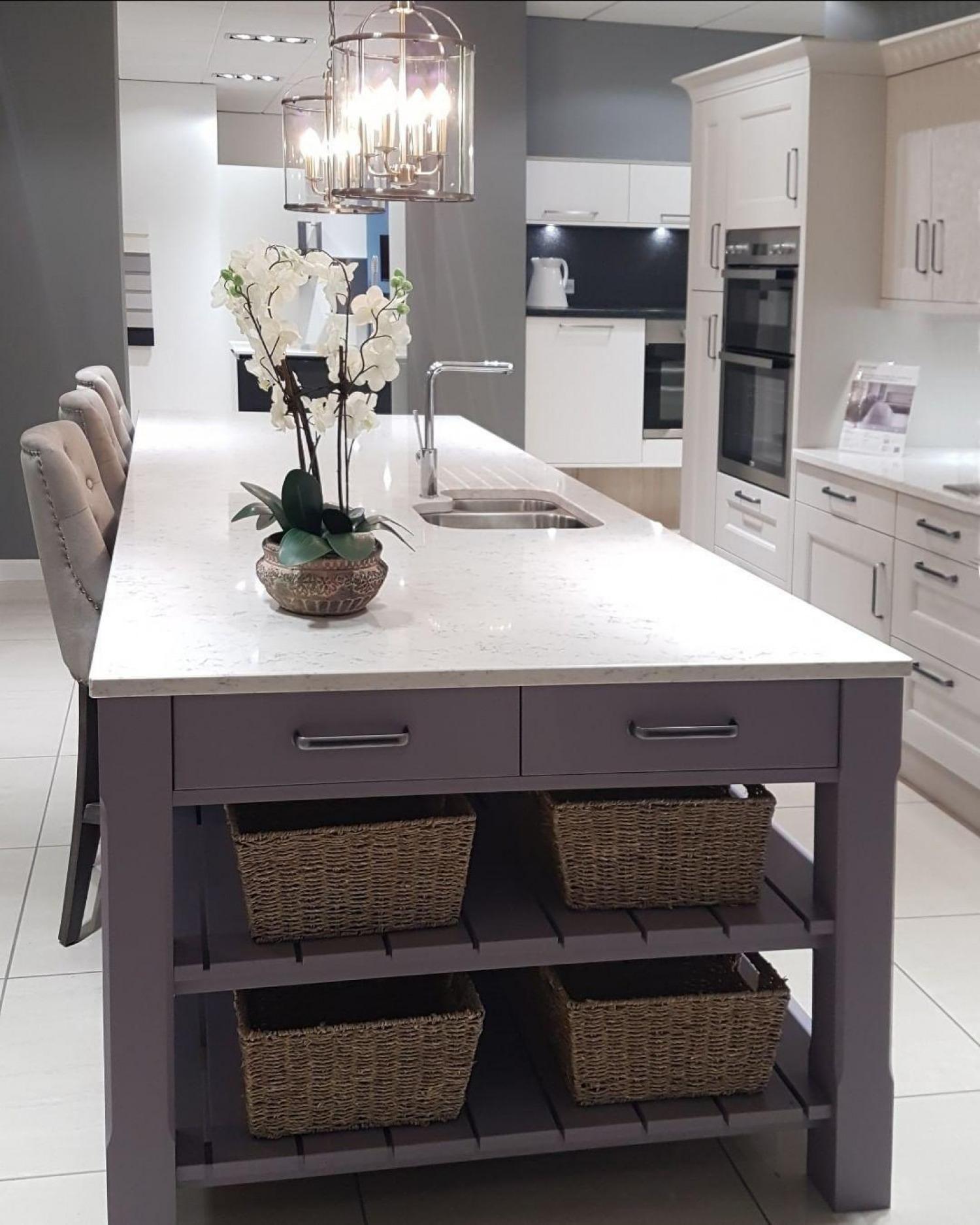 Purple Kitchen Ideas Purple Kitchen Island