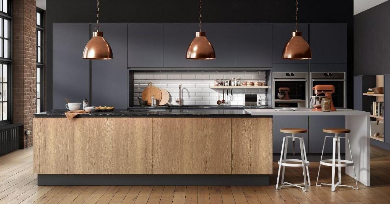 Black Kitchen Worktop Ideas Wooden Cabinets