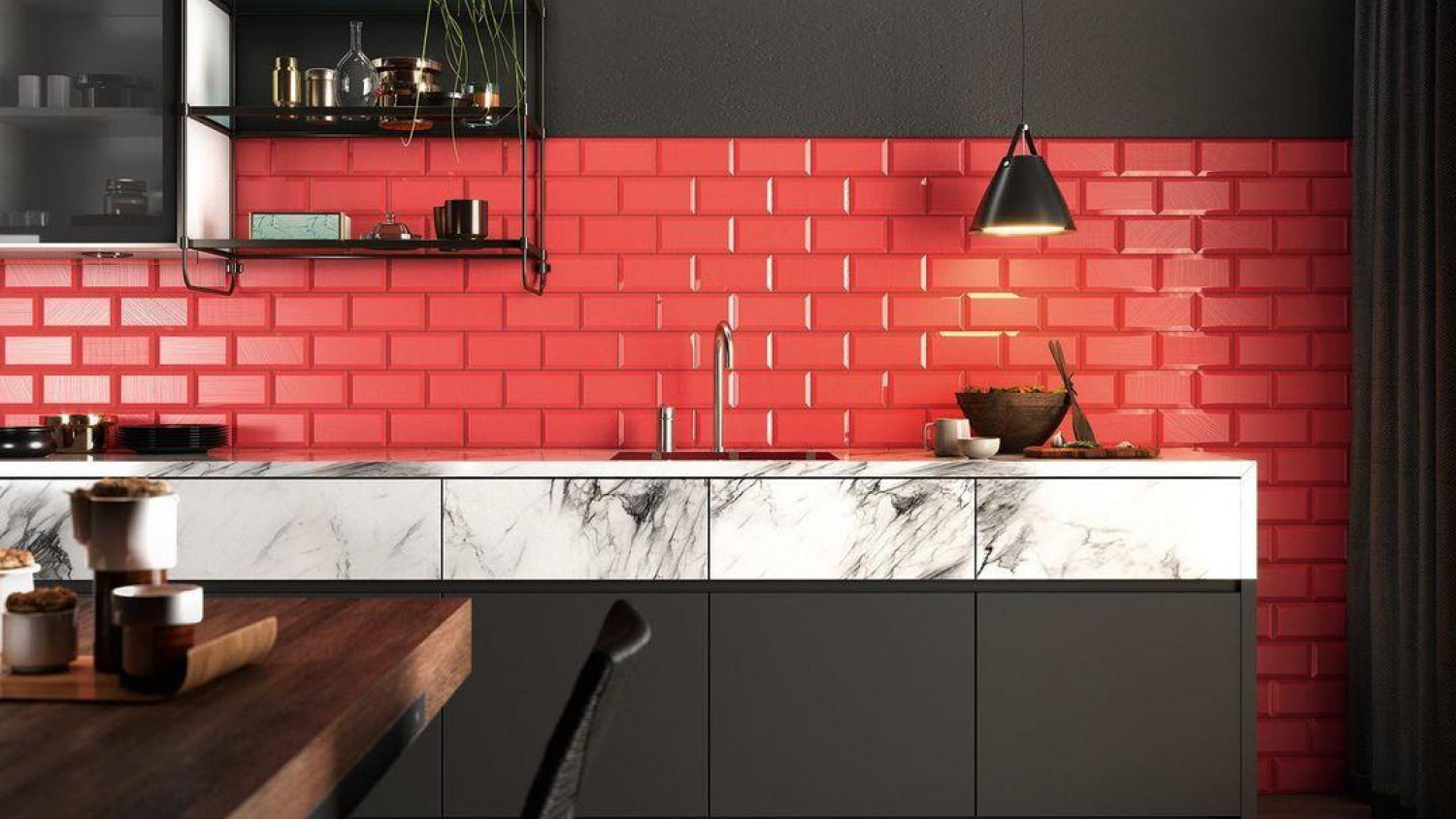 Red Kitchen Ideas Red And Black