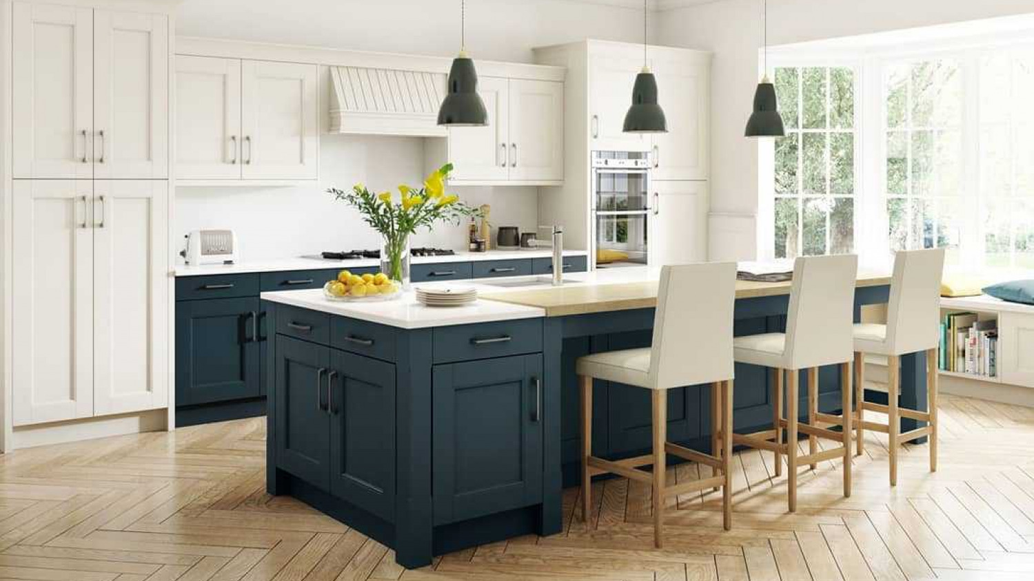 Kitchen Island Ideas Contrast Colours