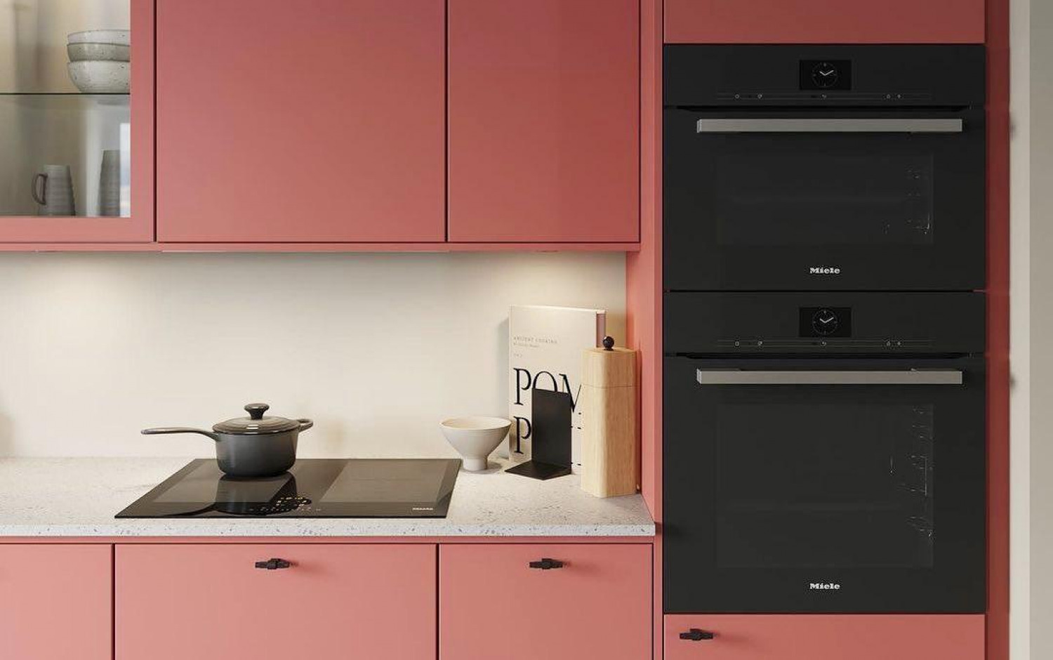 Black And Red Kitchen Ideas White Walls