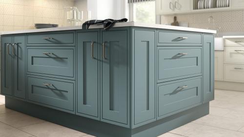 Edwardian Painted Steel Blue
