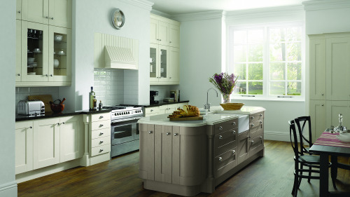 Painted Ivory And Hickory Wood Shaker 1