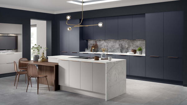 Opaco Painted Oxford Blue And Slate