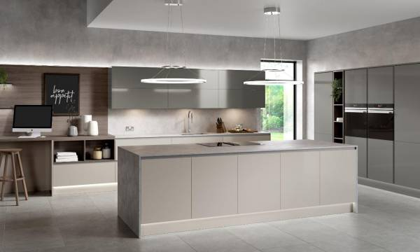 Sheraton Oblique Gloss Graphite And Limestone