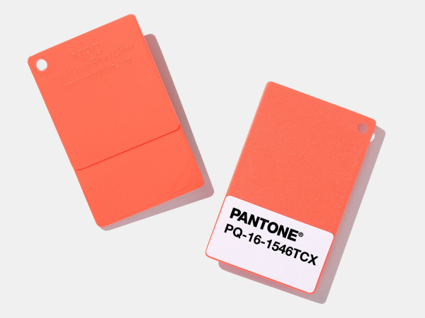 Pantone Coy 2019 16 1546 Living Coral Pms Color Plastic Chips