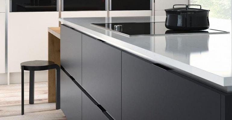 Kitchen Styles Handleless Black