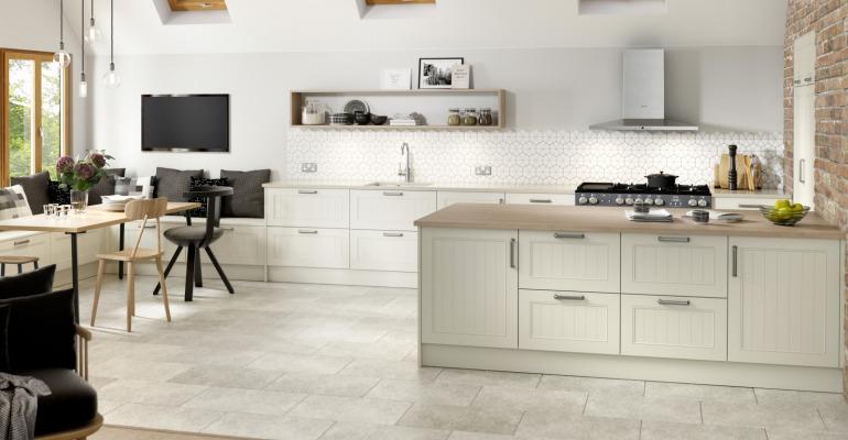 White Kitchen Wooden Worktops